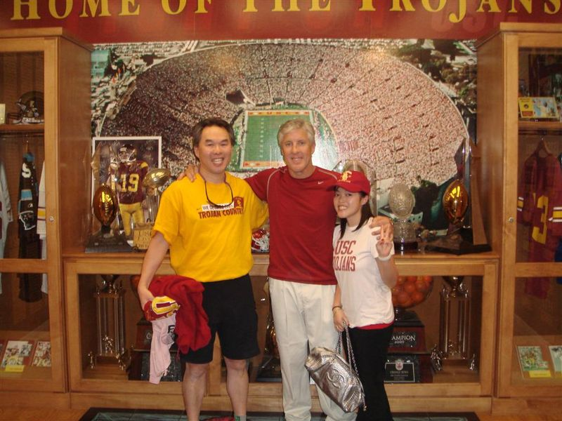 Pete Carroll and Dad at USC