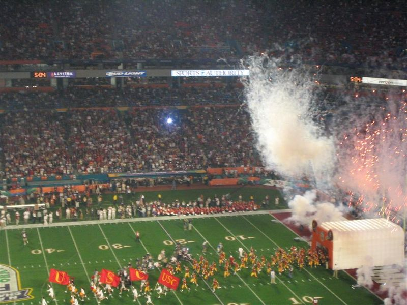 USC Orange Bowl 2005 game day