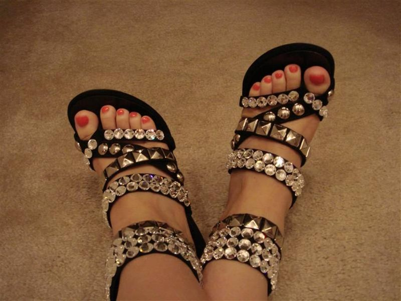 Balmain Rhinestone Studded Shoes
