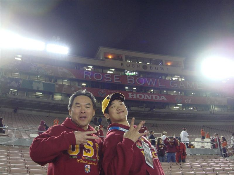 Peter Dad USC Rose Bowl