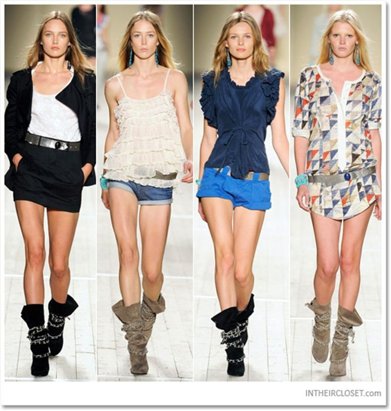 Isabel Marant Soono Chain boots runway (Custom)